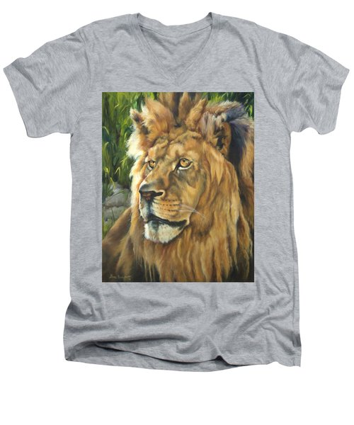 Him - Lion Men's V-Neck T-Shirt