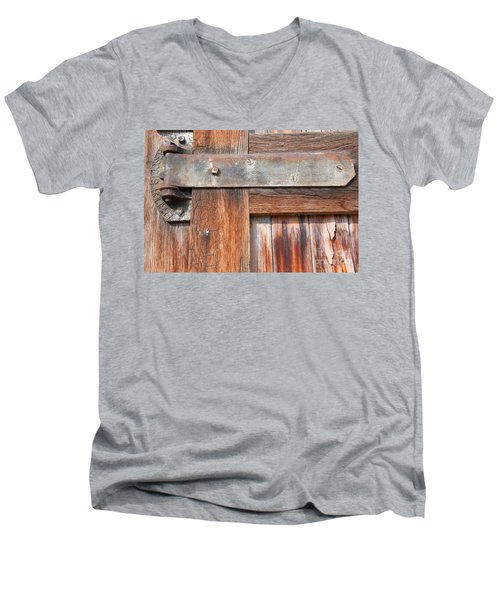 Hinge Door  Men's V-Neck T-Shirt by Minnie Lippiatt