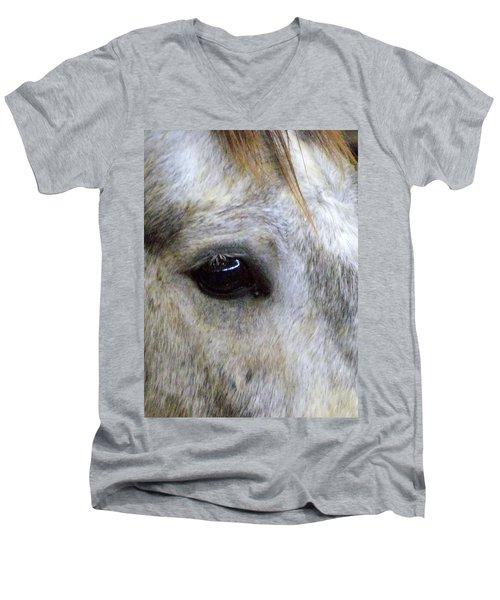 Men's V-Neck T-Shirt featuring the photograph His Spirit Was Stolen by John Glass