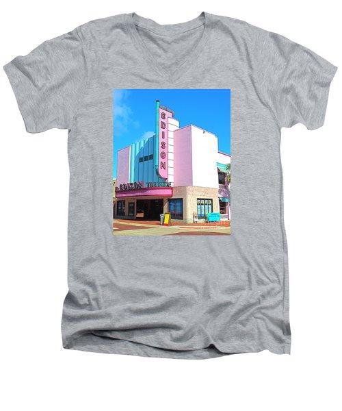 Deco Historic Edison Theater. Ft. Myers. Florida. Men's V-Neck T-Shirt