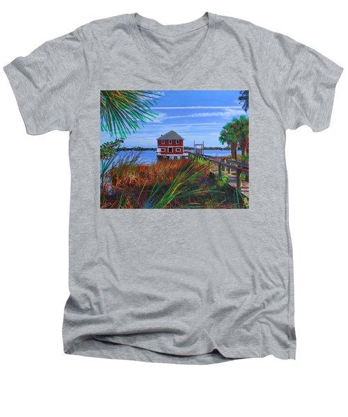 Historic Ormond Boathouse Men's V-Neck T-Shirt