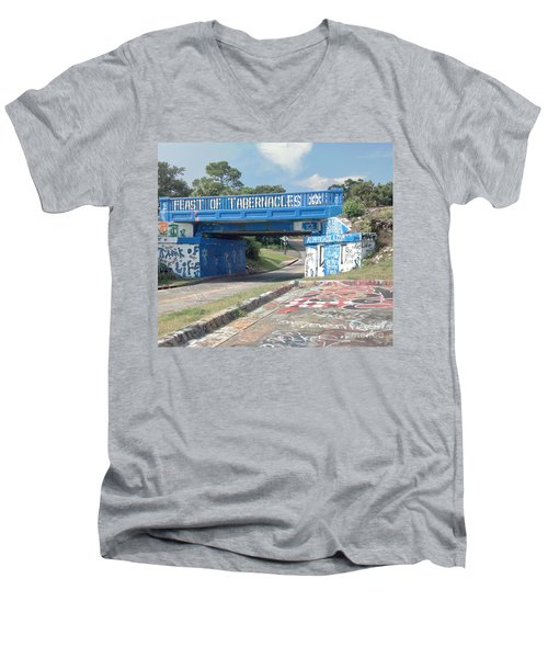 Historic Pensacola Graffiti Bridge Men's V-Neck T-Shirt