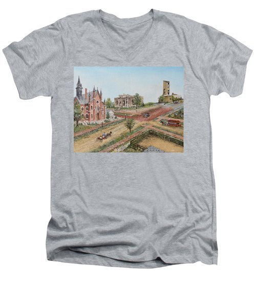 Historic Street - Lawrence Kansas Men's V-Neck T-Shirt