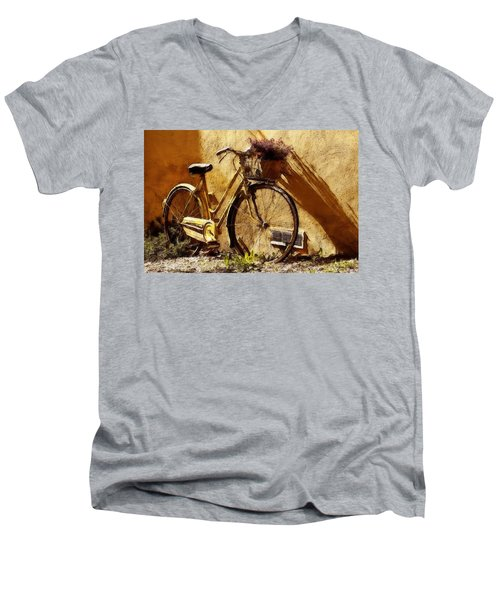 Hitching A Ride Men's V-Neck T-Shirt by Sandy MacGowan