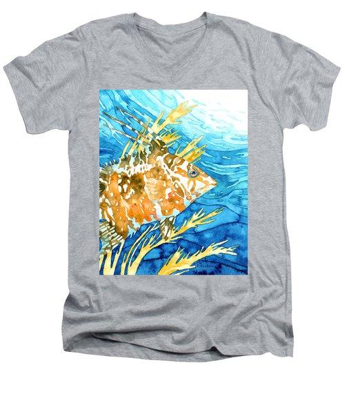 Hogfish Portrait Men's V-Neck T-Shirt