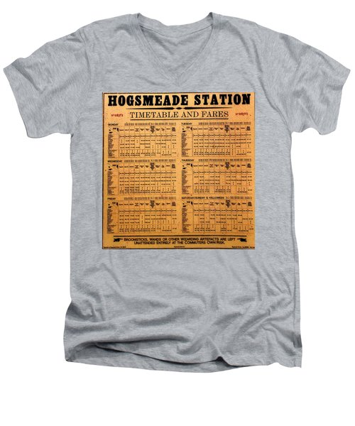 Hogsmeade Station Timetable Men's V-Neck T-Shirt