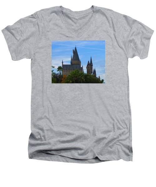 Hogwarts Castle With Towers Men's V-Neck T-Shirt