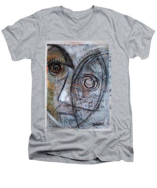 Hold Tight To My Faith Men's V-Neck T-Shirt