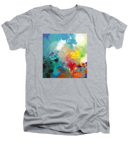 Holding The High Watch Canvas One Men's V-Neck T-Shirt by Sally Trace