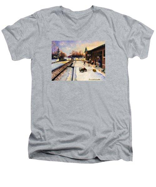 Holiday Depot 1932 Men's V-Neck T-Shirt by Susan Williams