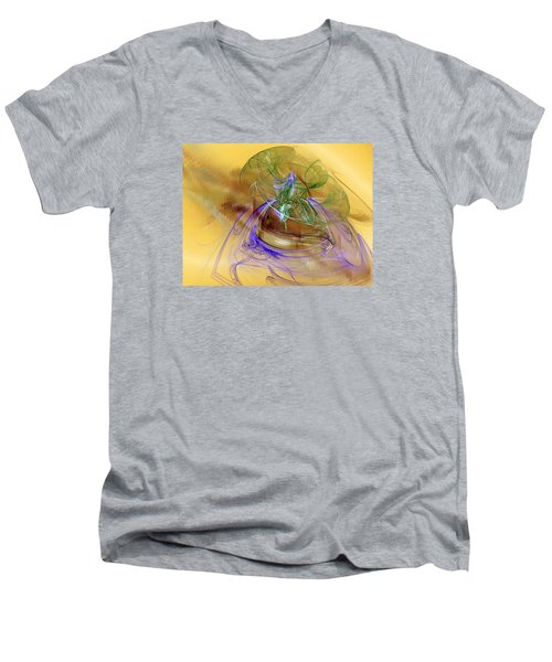 Holiday In Cambodia Men's V-Neck T-Shirt by Jeff Iverson