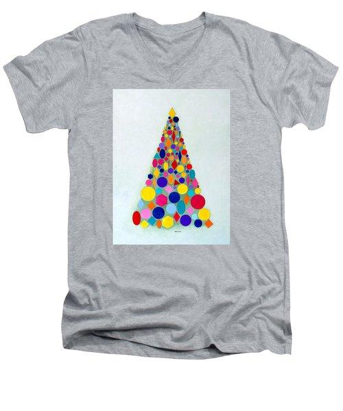 Holiday Tree #1 Men's V-Neck T-Shirt by Thomas Gronowski