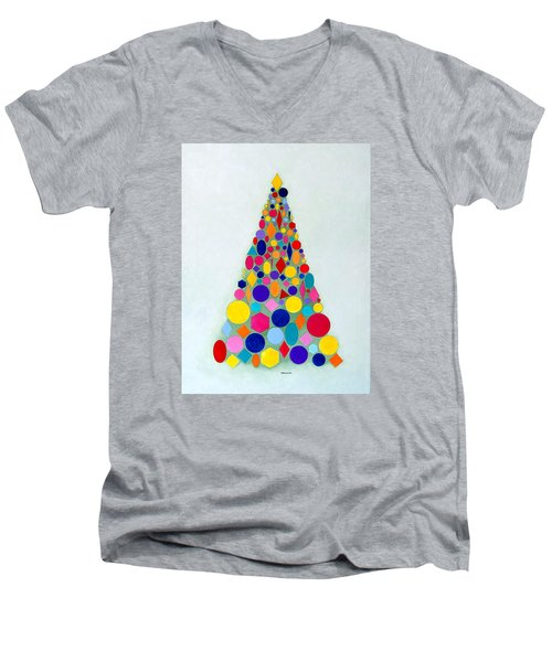 Holiday Tree #1 Men's V-Neck T-Shirt