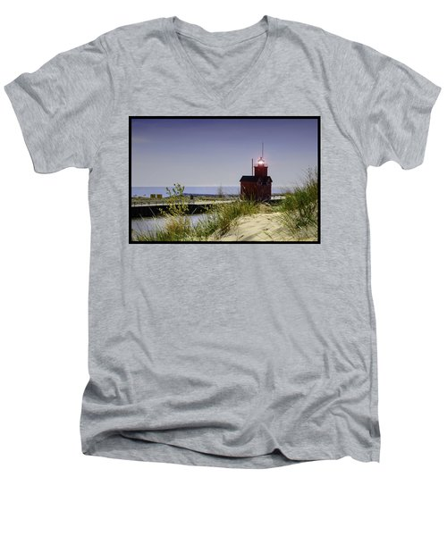 Holland Harbor Light  Men's V-Neck T-Shirt