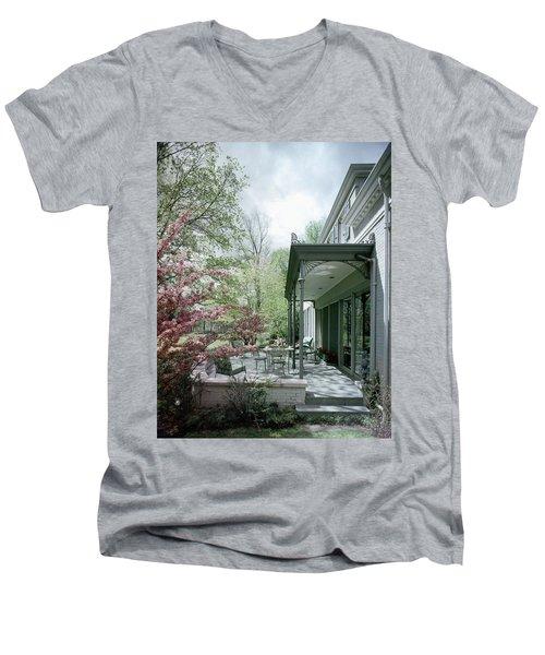 Hollis Baker's Patio Men's V-Neck T-Shirt