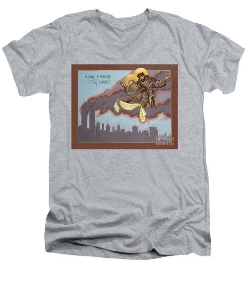 Holy Passion Bearer Mychal Judge 132 Men's V-Neck T-Shirt