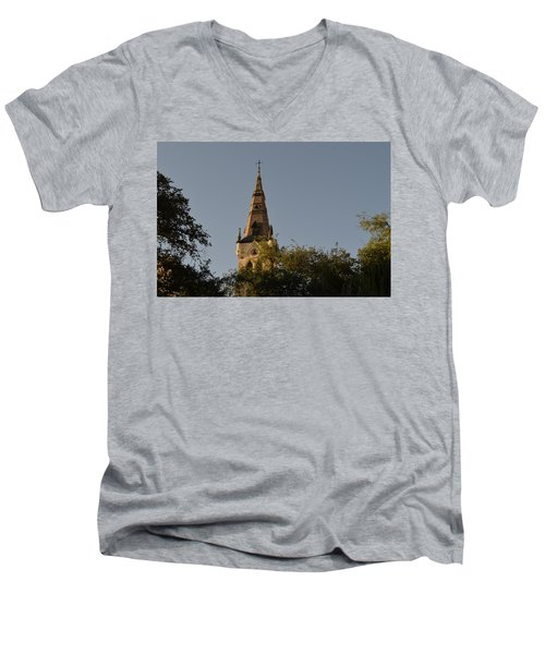 Men's V-Neck T-Shirt featuring the photograph Holy Tower   by Shawn Marlow