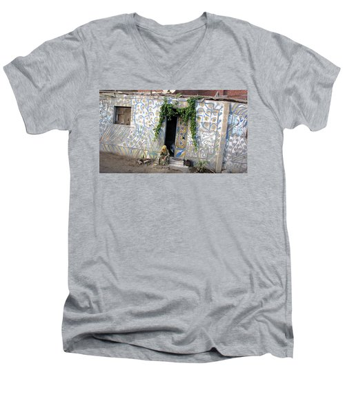 Men's V-Neck T-Shirt featuring the photograph Home In Ciro Egypt by Jennifer Wheatley Wolf