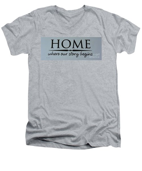 Men's V-Neck T-Shirt featuring the photograph Home by Jeannie Rhode