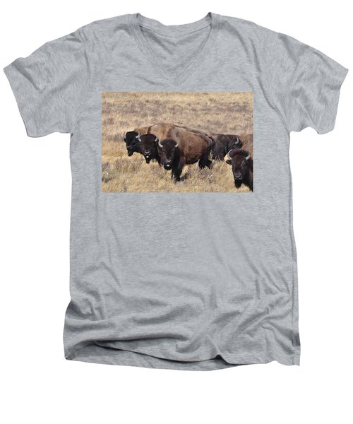 Men's V-Neck T-Shirt featuring the photograph Home On The Range by Fran Riley