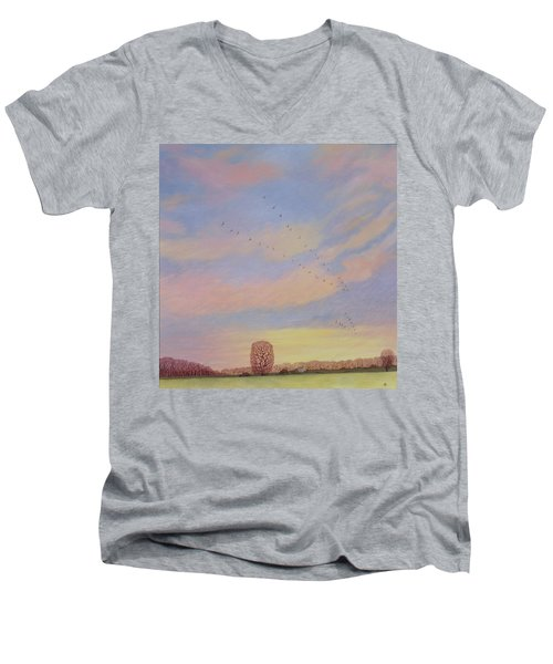 Homeward, 2004 Oil On Canvas Men's V-Neck T-Shirt by Ann Brain