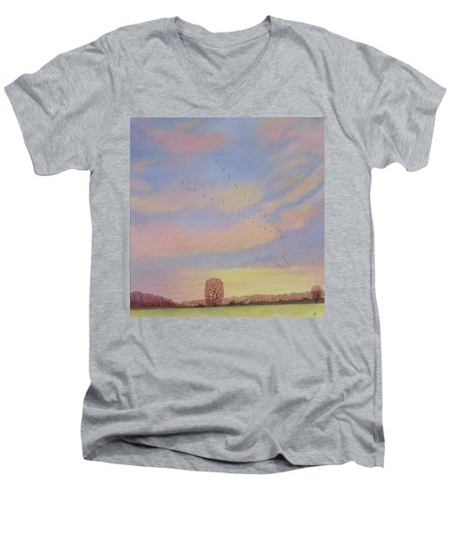 Homeward Men's V-Neck T-Shirt by Ann Brian
