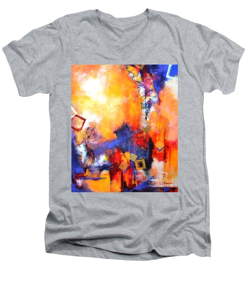 Hope Men's V-Neck T-Shirt by Betty M M   Wong