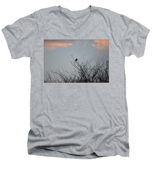 Hope Perched  Atop Men's V-Neck T-Shirt by Sonali Gangane