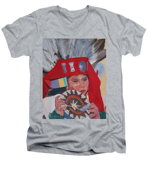 Hopi Basket Dancer Men's V-Neck T-Shirt