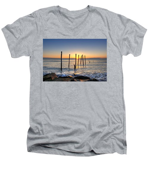 Horizon Sunburst Men's V-Neck T-Shirt