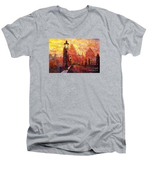 Horizontal Flip Men's V-Neck T-Shirt