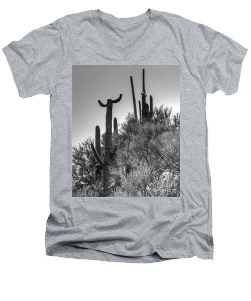 Horn Saguaro Cactus Men's V-Neck T-Shirt