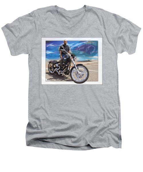 Horses Of Iron10 Men's V-Neck T-Shirt