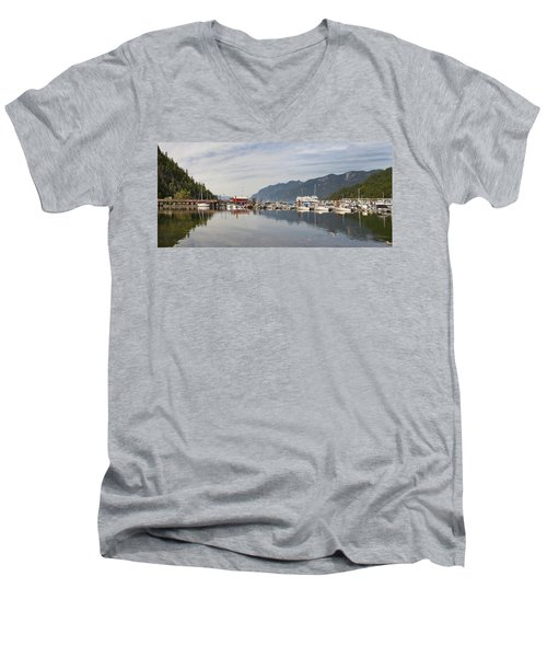 Men's V-Neck T-Shirt featuring the photograph Horseshoe Bay Vancouver Bc Canada by JPLDesigns
