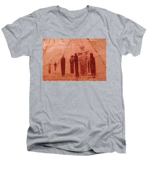 Horseshoe Canyon Pictographs Men's V-Neck T-Shirt