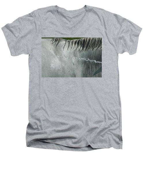 Cooling Down White Horse Men's V-Neck T-Shirt
