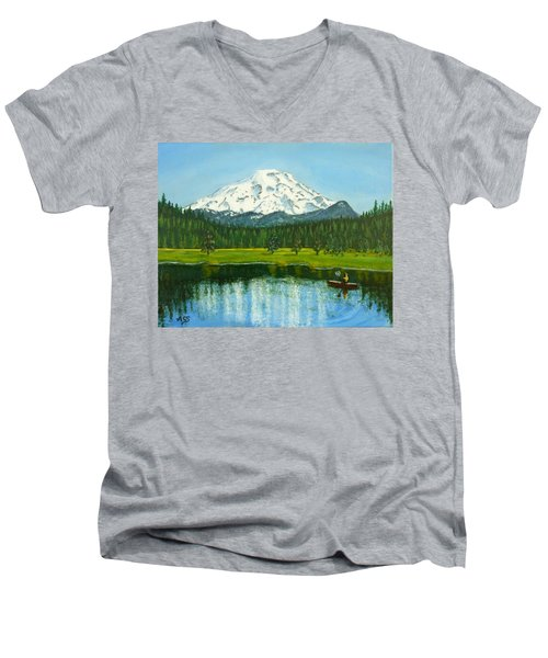 Hosmer Lake Men's V-Neck T-Shirt