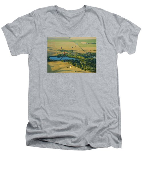 Men's V-Neck T-Shirt featuring the photograph Hot Air Reflection by Nick  Boren