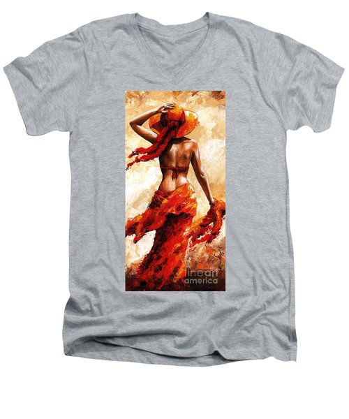 Hot Breeze #02 Men's V-Neck T-Shirt by Emerico Imre Toth