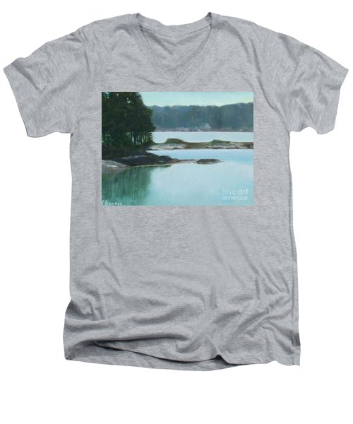 Hot Day In Rockland Me Men's V-Neck T-Shirt
