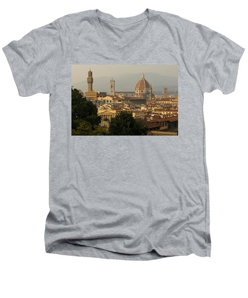 Hot Summer Afternoon In Florence Italy Men's V-Neck T-Shirt