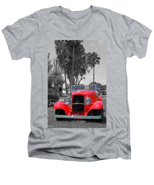 Men's V-Neck T-Shirt featuring the photograph Hot V8 by Shoal Hollingsworth