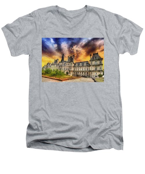 Sunset At The Hotel De Ville Men's V-Neck T-Shirt