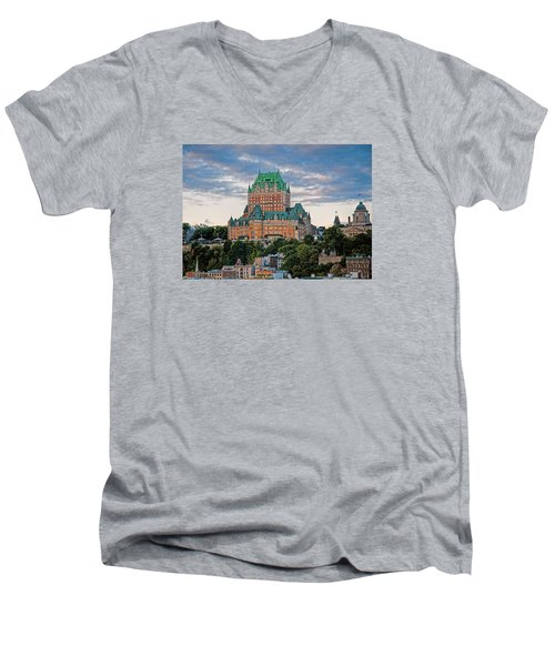 Fairmont Le Chateau Frontenac  Men's V-Neck T-Shirt
