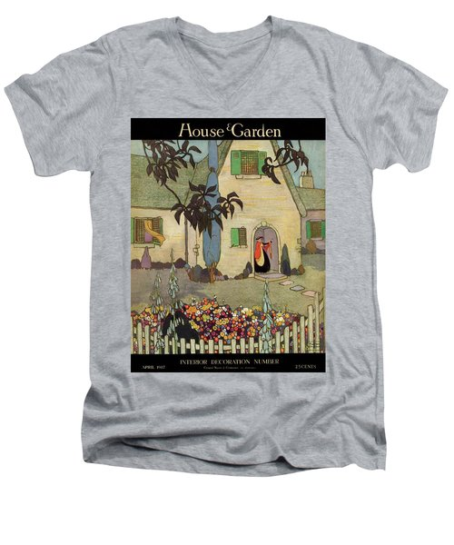 House & Garden Cover Illustration Of An Men's V-Neck T-Shirt