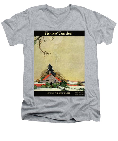 House And Garden Annual Building Number Cover Men's V-Neck T-Shirt