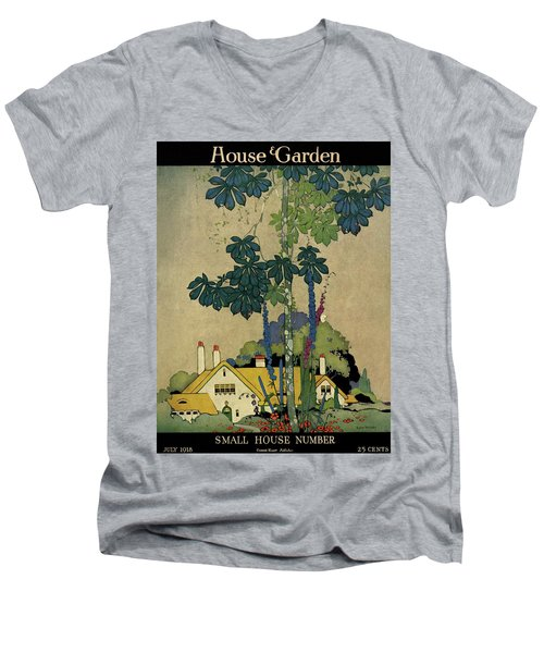 House And Garden Cover Men's V-Neck T-Shirt