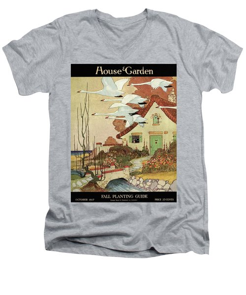 House And Garden Fall Planting Guide Men's V-Neck T-Shirt