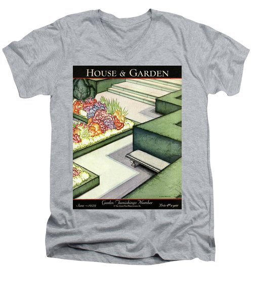 House And Garden Garden Furnishings Number Cover Men's V-Neck T-Shirt