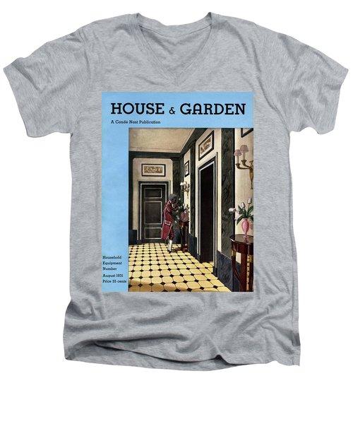 House And Garden Household Equipment Number Men's V-Neck T-Shirt